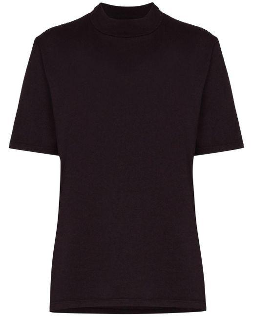 Les Tien モックネック Tシャツ Purple