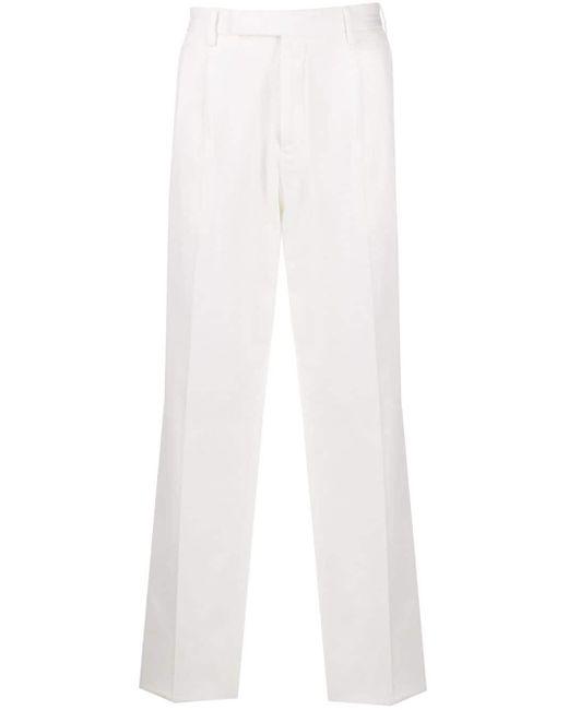 メンズ Z Zegna テーラード ストレートパンツ White