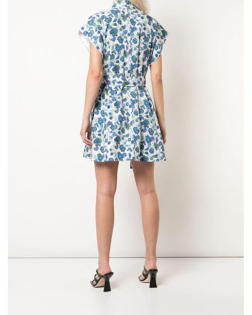 Givenchy フローラル シャツドレス Blue