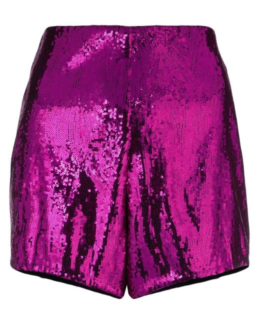 Philosophy Di Lorenzo Serafini Pink Sequin Embellished Shorts