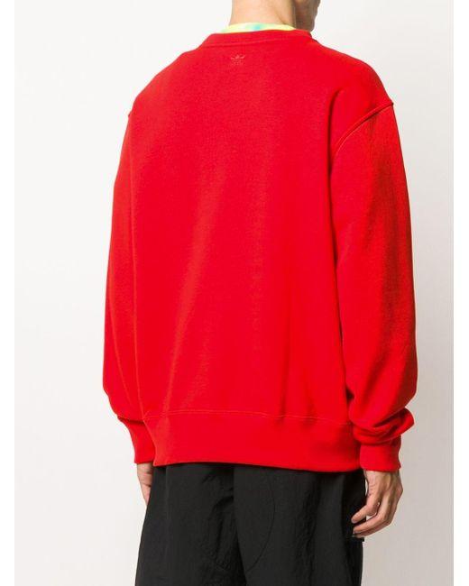 Толстовка Оверсайз Adidas Originals, цвет: Red