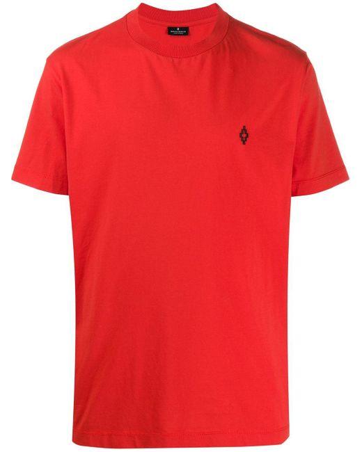 メンズ Marcelo Burlon ロゴ Tシャツ Red