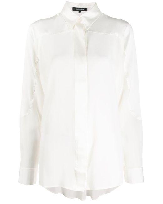 Barbara Bui Pearl シルクシャツ White