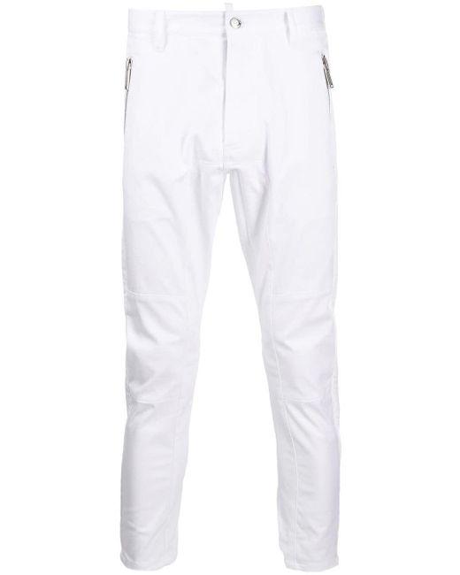 メンズ DSquared² テーパード パンツ White