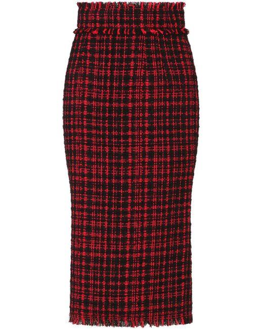 Dolce & Gabbana Red Tweed-Rock
