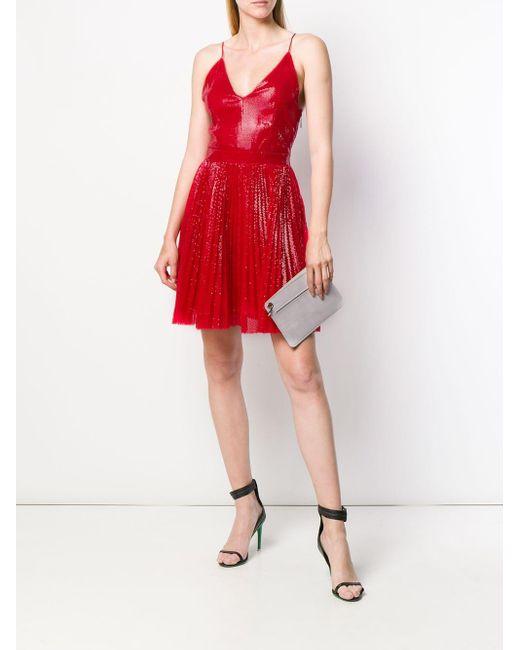 Расклешенное Платье С Пайетками MSGM, цвет: Red