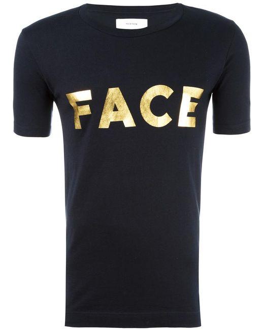Facetasm | Black Logo Print T-shirt for Men | Lyst