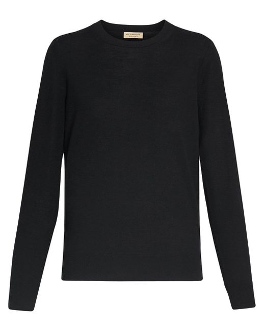 Burberry エルボーパッチ セーター Black