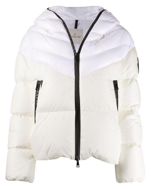 Moncler フーデッド パデッドジャケット White
