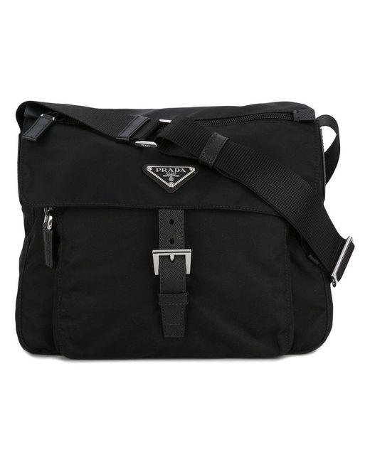 Prada - Black - Logo Plaque Cross Body Bag - Women - Nylon - One Size - Lyst