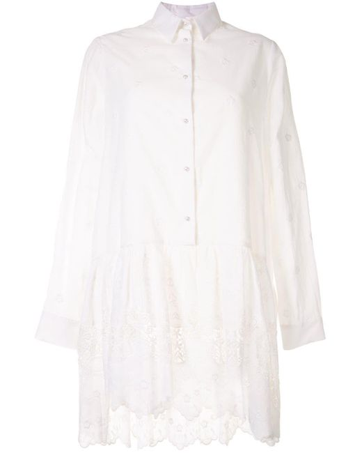 Macgraw Dahlia シャツドレス White
