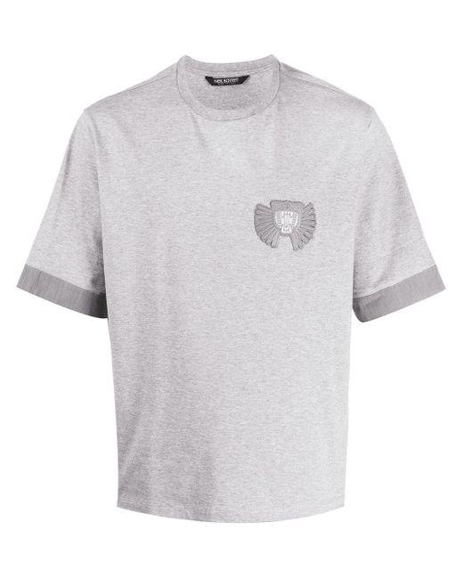 メンズ Neil Barrett パッチ Tシャツ Gray