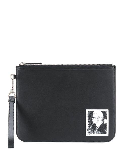 Karl Lagerfeld Karl Legend クラッチバッグ Black
