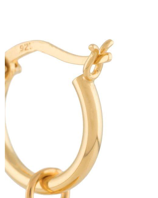 Единичная Серьга-кольцо Shark Tooth True Rocks для него, цвет: Metallic