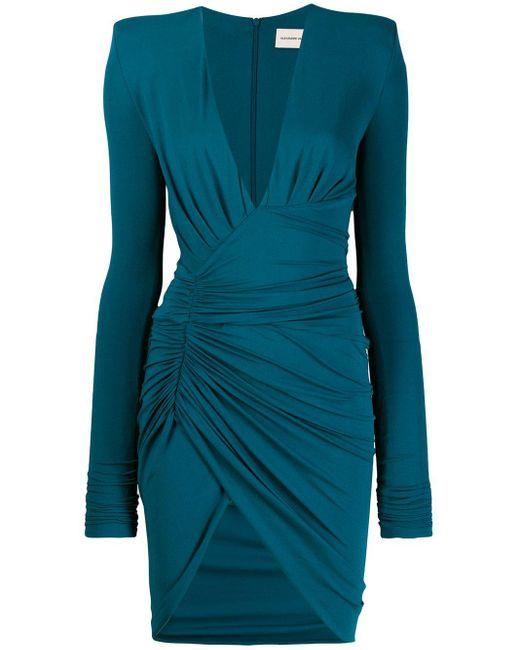 Alexandre Vauthier ロングスリーブ ドレス Blue