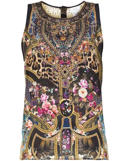 Camilla Multicolor Top mit Print