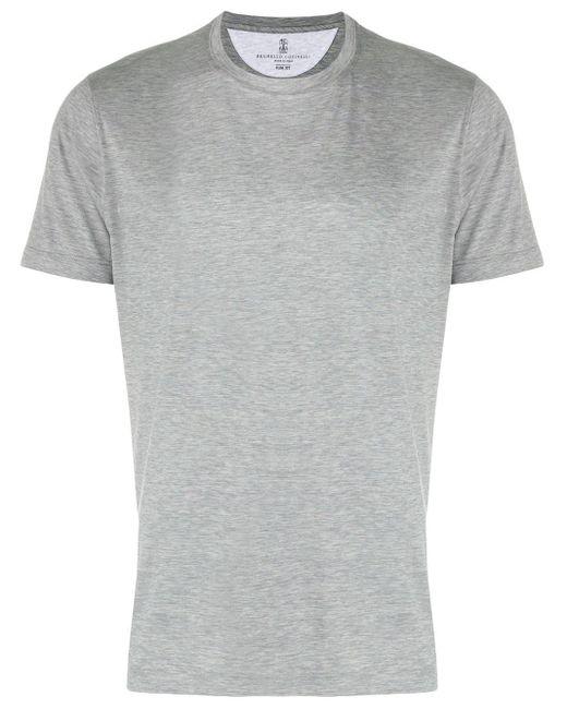 メンズ Brunello Cucinelli クルーネック Tシャツ Gray