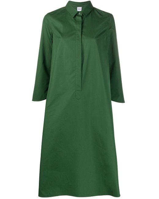 Aspesi オーバーサイズ シャツドレス Green