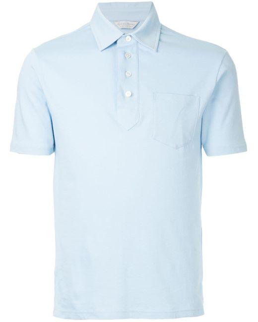 メンズ Gieves & Hawkes クラシック ポロシャツ Blue