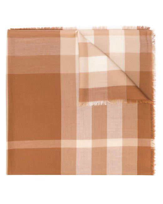 Burberry カシミア チェック スカーフ Brown