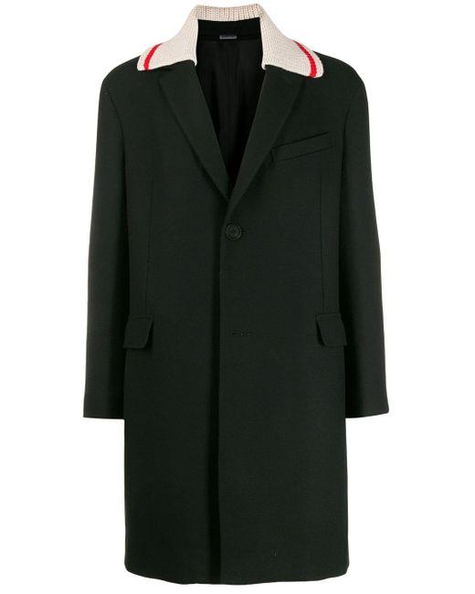 メンズ Lanvin コントラストカラー コート Black