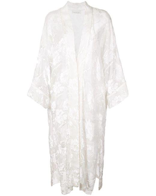 Fleur du Mal White Fil Coupe Robe