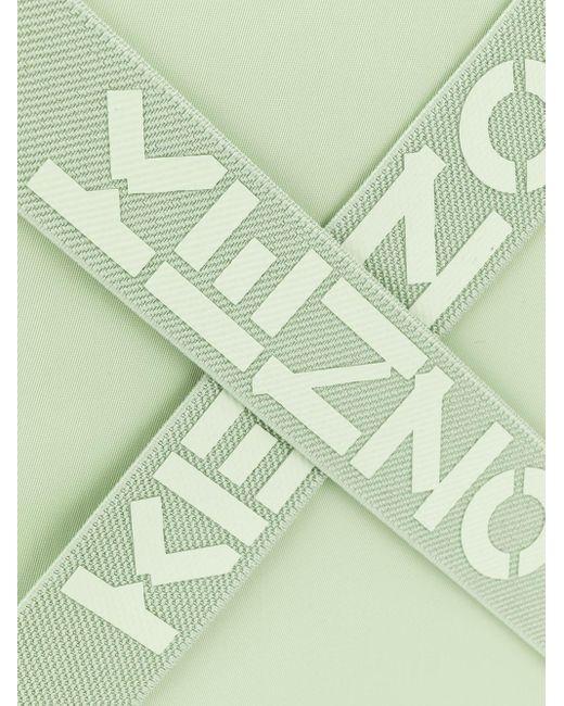 KENZO ロゴストラップ クラッチバッグ Green