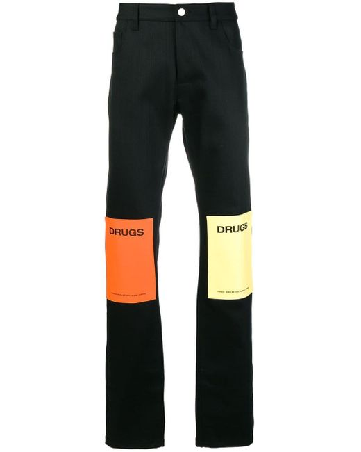 Raf Simons Black Regular Trousers for men