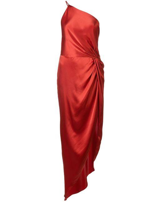 Michelle Mason ノット イブニングドレス Red