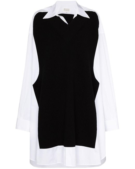 Maison Margiela White Panelled Shirt Dress