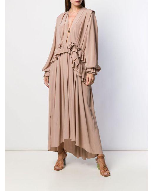 Victoria Beckham ラッフル ロングドレス Multicolor