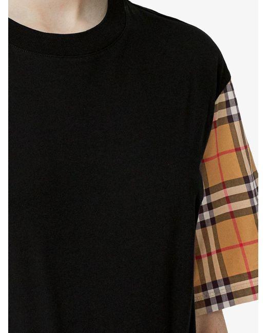 Burberry ブラック ビンテージ チェック Serra T シャツ Black