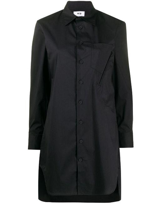 Y-3 ロングライン シャツ Black