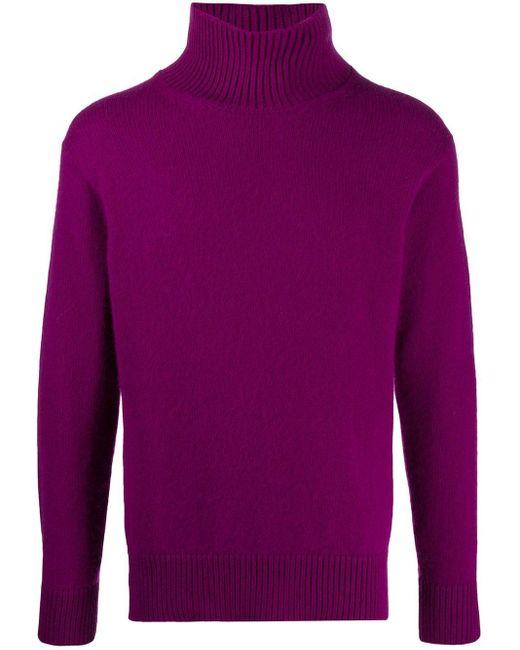 Laneus Pullover mit Rollkragen in Purple für Herren