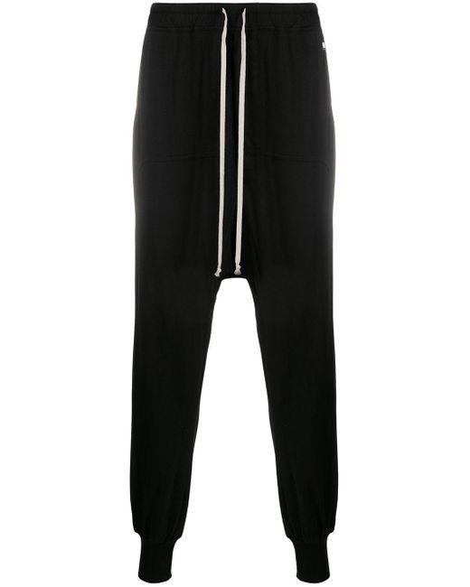 Rick Owens Drkshdw Black Drop-crotch Drawstring Track Pants for men