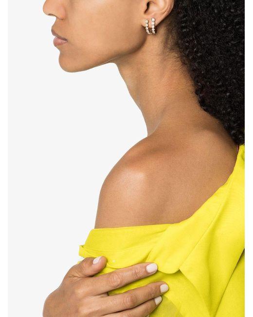 Sophie Bille Brahe Metallic 18kt Yellow Gold Half-hoop Diamond Earrings