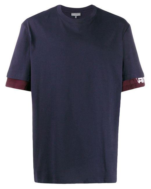 メンズ Lanvin ダブル Tシャツ Blue