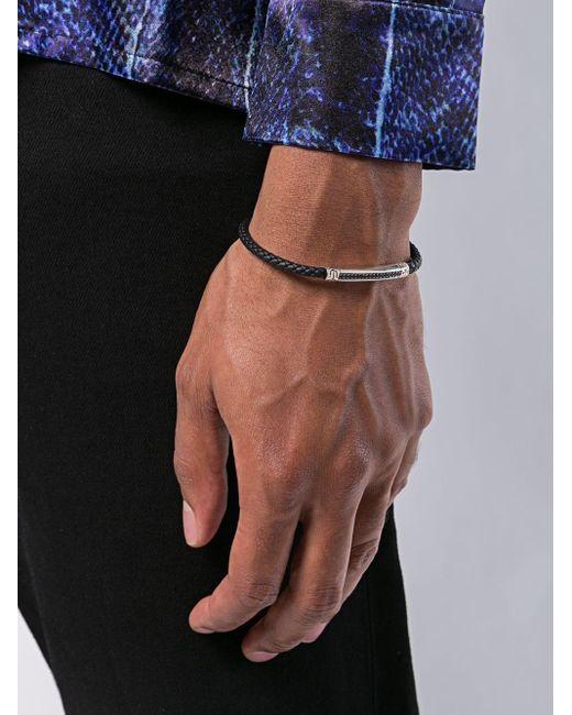 Плетеный Браслет John Hardy для него, цвет: Black