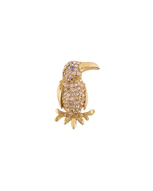 Oscar de la Renta   Multicolor Parrot Brooch   Lyst