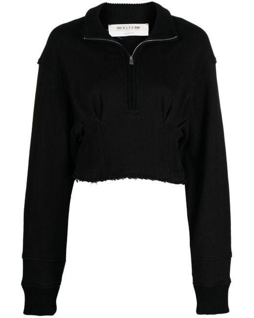 1017 ALYX 9SM クロップド ジップスウェットシャツ Black