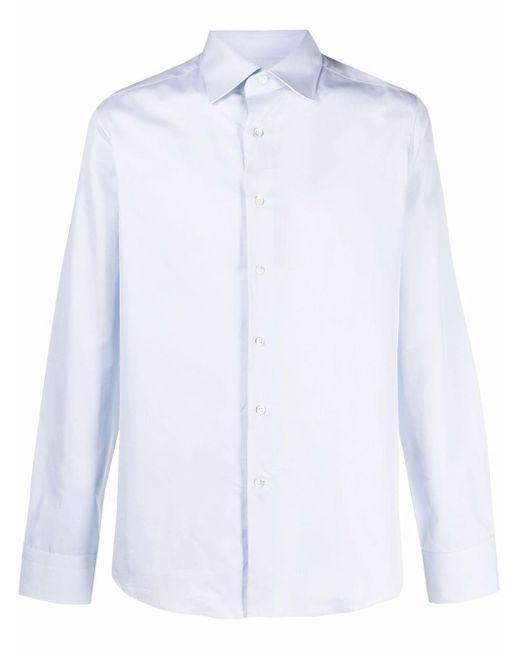 メンズ Canali バイカラー シャツ Blue