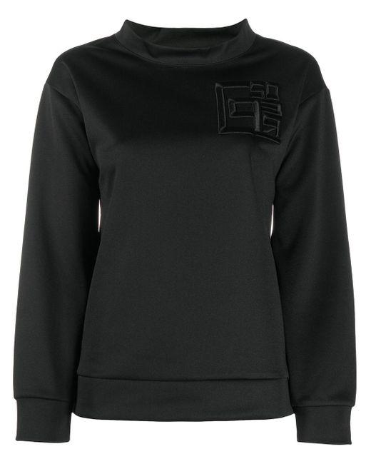 Peserico モックネック スウェットシャツ Black