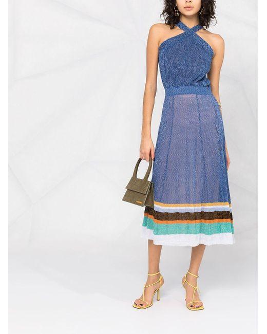 Missoni ストライプ ドレス Blue