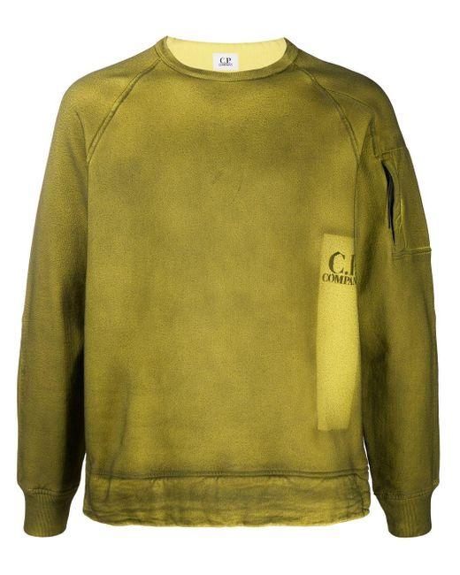 メンズ C P Company クルーネック スウェットシャツ Green