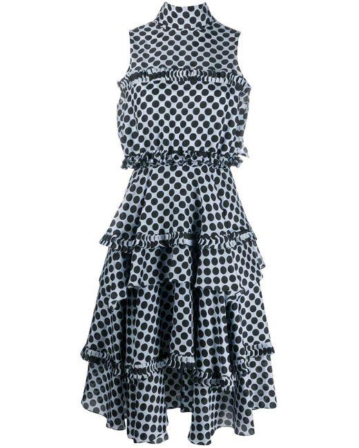 Alexandre Vauthier ポルカドット ドレス Blue