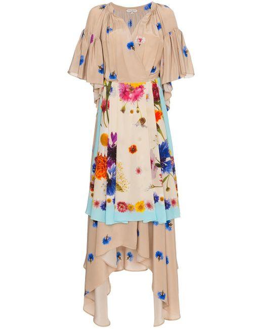 Natasha Zinko フローラルドレス Multicolor