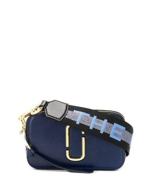 Marc Jacobs Blue The Logo Strap Snapshot Small Camera Bag