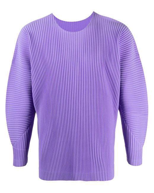 メンズ Homme Plissé Issey Miyake バルーンスリーブ スウェットシャツ Purple