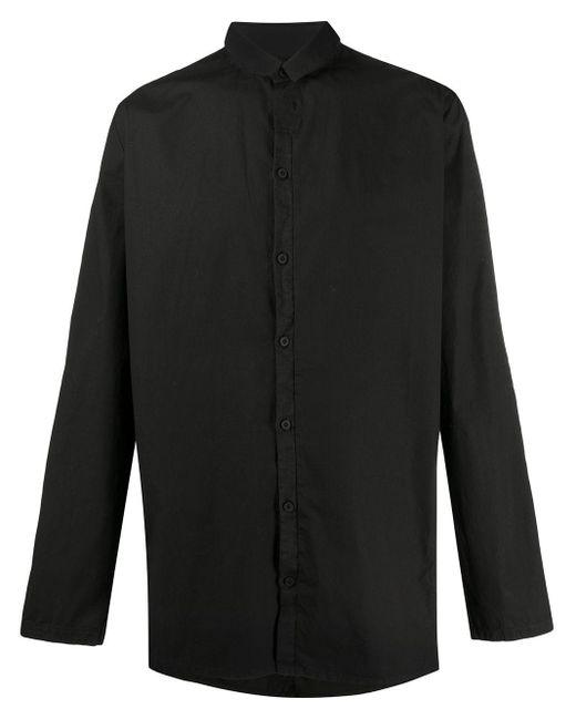 メンズ Transit バンドカラー シャツ Black
