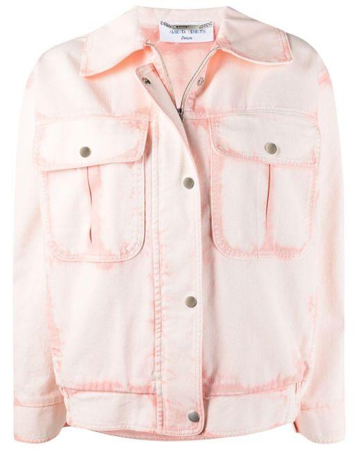 Alberta Ferretti ブリーチ デニムジャケット Pink